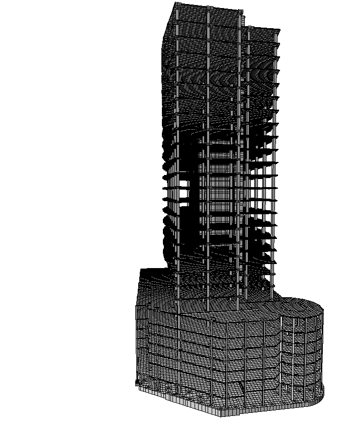 3D model of the structure