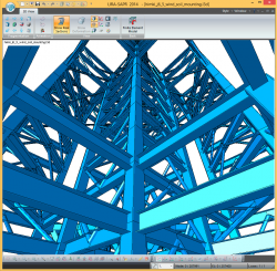 Steel structure in 3D mode