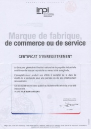 Certificate of Trademark Ownership LIRA (France)