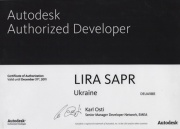 Certificate of Autodesk Authorized Developer